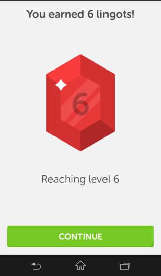 Earning-lingots-on-Duolingo